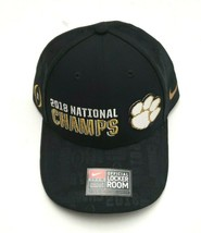 Nike Clemson Tigers NCAA 2018 National Champs Locker Room Strapback Hat Black - £22.14 GBP