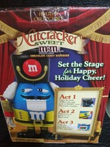 NUTCRACKER SWEET M&M's HOLIDAY CHOCOLATE CANDY BLUE DISPENSER  - $9.99
