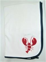 Vintage Gymboree 2001 Snap Snap Infant Blanket Red Lobster Reverses to S... - $54.44