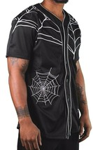 40 Oz New York Forty Ounce NYC Black Spider Web Baseball Jersey 03492F NWT image 2