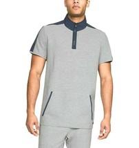 Under Armour Men Unstoppable Short Sleeve 1/4 Zip Gray Blue 1324221 025 ... - $44.95