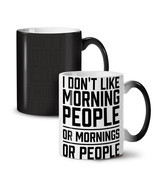 Morning People Joke Funny NEW Colour Changing Tea Coffee Mug 11 oz | Wel... - £14.99 GBP