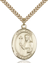 14K Gold Filled St. Regis Pendant 1 x 3/4 inch with 24 inch Chain - $135.80