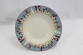 "Snowmen Serenade Rim Soup Bowls Cambridge 8.5"" Set of 12 - $97.02"