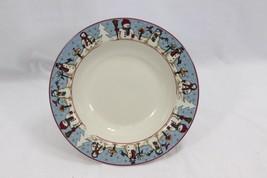 "Snowmen Serenade Rim Soup Bowls Cambridge 8.5"" Set of 12 image 1"