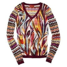 NWT Missoni Knit Sweater & Chiffon Blouse Top Red Colore Floral - X-Smal... - $112.70 CAD