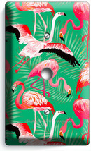 PINK FLAMINGO TROPICAL PALM PATTERN LIGHT DIMMER CABLE WALL PLATE ROOM A... - $10.99