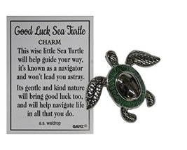 Ganz Good Luck Sea Turtle Pocket Charm with Story Card (Green) - $2.33