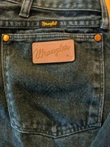Wrangler 13MWZWG Faded Green Denim Jeans Tag Size 38 x 30 Cowboy US Made - $23.36