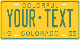 Colorado 1953 License Plate Personalized Custom Car Bike Motorcycle Mope... - $10.99+