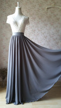 GRAY Wedding Skirt and Top Set Plus Size Two Piece Bridesmaid Skirt and Top image 5