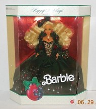 1991 Happy Holidays Barbie Doll Collectors Edition RARE HTF Mattel - $32.73