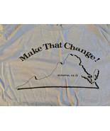 Vintage Make That Change! Midlothian VA Virginia T Shirt XL Jerzees 50/50  - $23.36