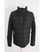 Zara Man Mens Puffer Coat Jacket Black Water Repellent Hood S M L 6719/4... - $95.20