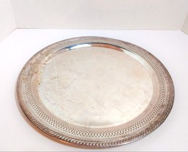 """Vintage F.B.Rogers Silver Co.1883 Silverplate Serving Tray #1914 13.5"""" - $12.99"""