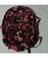 JANSPORT -  Backpack Bag Pink Brown Squares  - $13.47