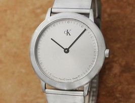 Mens Calvin Klein K3411 34mm Quartz Dress Watch, c.1990s Swiss Made X1062 - $395.01