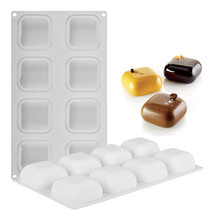 8 Hole Square Stone Silicone Cake Decoration Mold Mousse Jelly Soap DIY ... - ₨807.64 INR