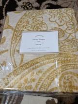 Pottery Barn Set 2 Elena Drape Yellow Gold 50x108L Curtains Pair Sheer Palampore - $179.00
