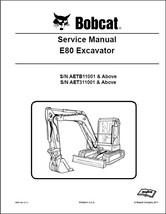 Bobcat E80 Compact Excavator Service Repair Manual on a CD --- E 80 - $12.00