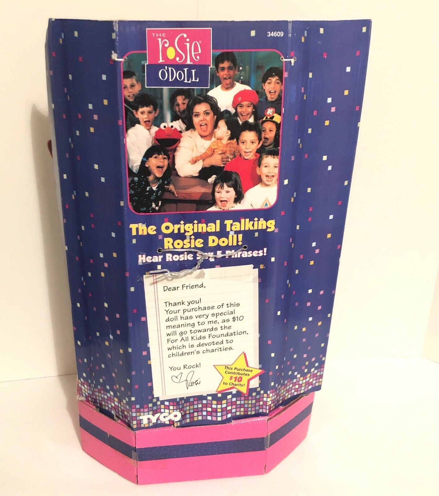 """New 1997 Rosie O'Donnell (O'Doll) Talking Celebrity Plush Doll 18"""" Tyco- Tested image 7"""