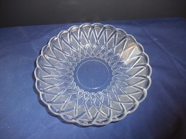 "Vintage Pretzel Clear Indiana Glass Soup/Cereal Bowl Textured 7 1/2""   - $9.99"