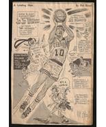 JoJo White Basketball Sports Phil Bissell Cartoon Sketch Newspaper Clipp... - $15.99