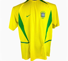 VTG NIKE Dri-Fit Brazil CBF National Team #9 Ronaldo Soccer Jersey Mens ... - $23.76