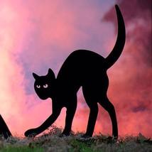 Indoor Outdoor Halloween Black Cat Metal Yard Decor Prop New - €50,41 EUR
