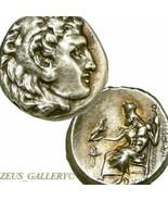 Raro Alexander Del Gran Vida Moneda Au Mejor Estilo Antiguo de Plata Her... - $764.06