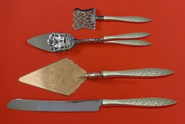 Spanish Lace by Wallace Sterling Silver Dessert Serving Set 4pc Custom Made - $255.65