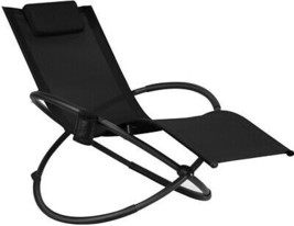 Zero Gravity Rocking Chair Lounge Folding Pillow Hang Rack Patio Pool Se... - $126.91