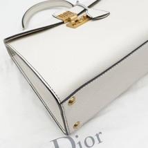100% Authentic Christian Dior Addict Tote White Calfskin Bag GHW RARE image 7