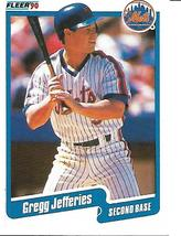 Baseball Card- Gregg Jeffries 1990 Fleer 207 - $1.00