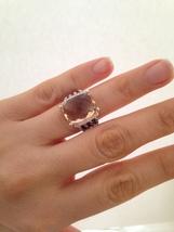 Pre Owned David Yurma Wheaton Morganite & Diamnds Ring 16mmx12mm  Size 6 - $499.00