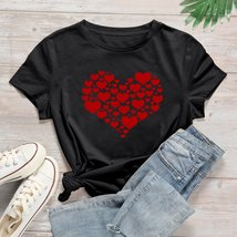 Plus Heart Print Short Sleeve Tee - $63.95