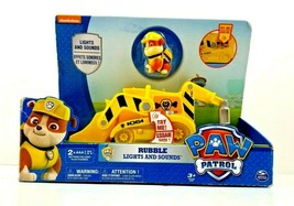 Nickelodeon Paw Patrol Rubble Lights & Sounds Diggin' Bull Dozer Figure ... - $18.76