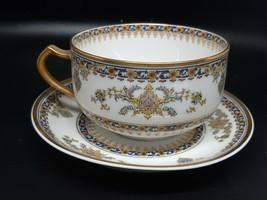 "Haviland Limoges tea cup/saucer excellent condition ""Oriental"" no gold loss - $25.00"