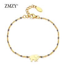 ZMZY Single Hamsa Hand Bracelet Stainless Steel Jewelry Thin Gold Line C... - $9.06