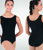 Body Wrappers BWP251 Women's Black X-Large (fits Large 12-14) Tank Leotard - $14.84