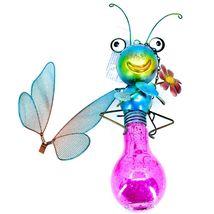 Regal Art & Gift Metal & Glass Butterfly Hanging Solar Light Garden Decor image 6