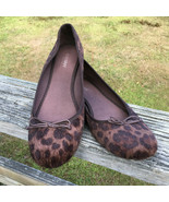 Old Navy Size 9 Leopard Flat Shoes Womens Fuzzy Womens Ballet Flats - $9.79