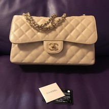 Chanel AUTHENTIC CHANEL JUMBO DOUBLE FLAP BAG BEIGE CAVIAR LEATHER GOLD ... - $105.118,75 MXN