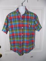 Little Levi's Multi Color Plaid Button Down Shirt Size 7 Boy's EUC - $16.72
