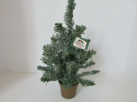 "Set Of 6 Christmas House 12"" Holiday Christmas Trees Snow Tipped With Bases - $9.75"