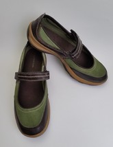 Lands End Shoes Flats Green Brown Mary Janes Womens Size US 7.5 B / EU 38 - $34.61