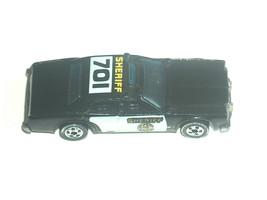 VTG 1982 Mattel Hot Wheels Black Sheriff 701 Police Patrol Car C8 80% Ve... - $17.82