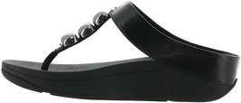 FitFlop Francheska Glitzy Toe Post Sandal BLACK 8 NEW 699-161 - $91.06