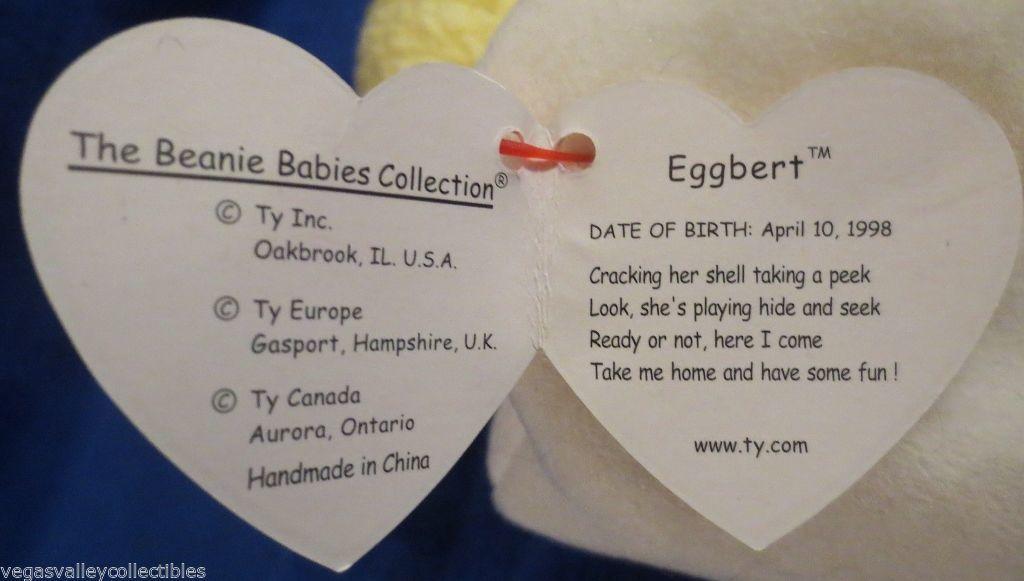 Ty Beanie Baby Eggbert 1998 Gasport Hang Tag Error 5th Generation