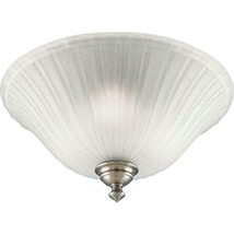 Renovations Collection 3-Light Antique Nickel Flushmount with Etched Glass - $33.65